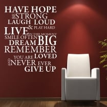 Hope Wall Sticker Quote