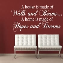 Hopes And Dreams Wall Sticker Quote