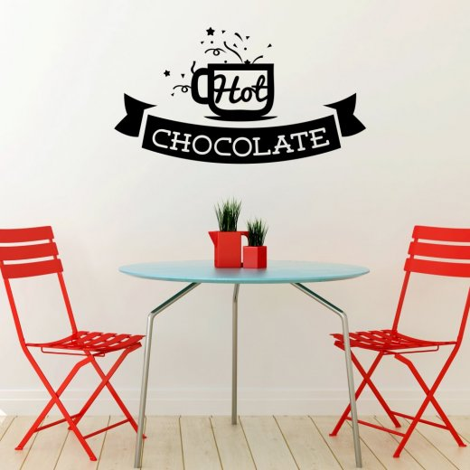Hot Chocolate Wall Sticker Quote