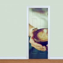 Hot Coffee Cup Printed Door