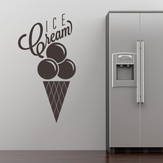 Ice Cream Cone Wall Sticker