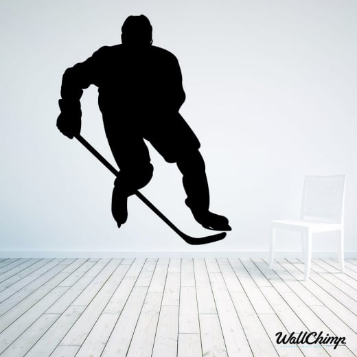 Ice Hockey Player One Wall Sticker