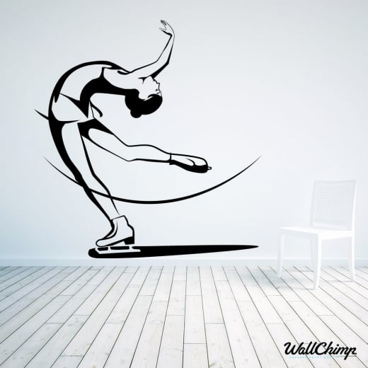 Ice Skater One Wall Sticker