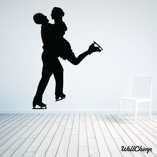 Ice Skater Two Wall Sticker