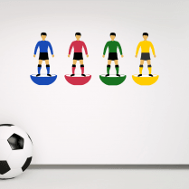 Iconic Football Player Set Wall Sticker