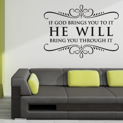 If God Wall Sticker Quote