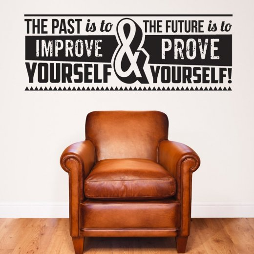 Improve Yourself Wall Sticker Quote