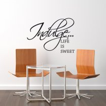 Indulge Food Wall Sticker Quote