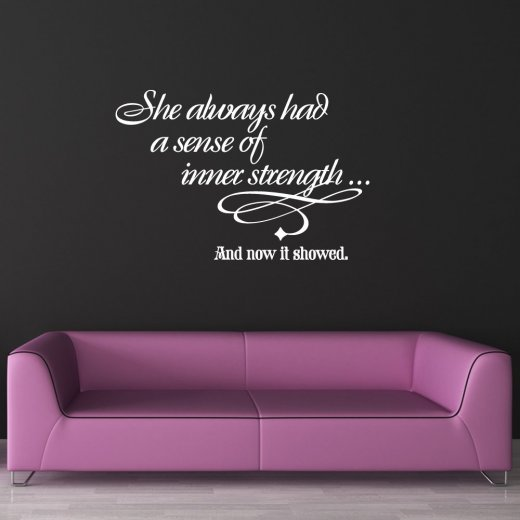 Inner Strength Wall Sticker Quote