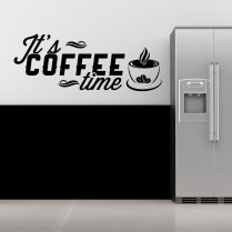 Its Coffee Time Wall Sticker Quote
