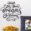 Jack Johnson Dreams Wall Sticker Quote