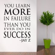 Jay-Z Learn More Wall Sticker Quote