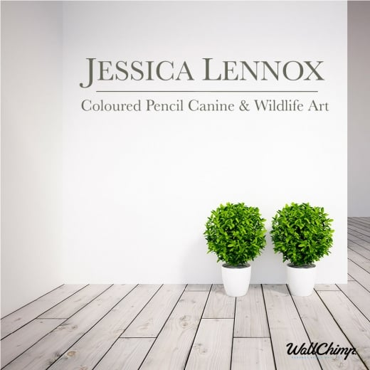 Jessica Lennox Logo Wall Sticker WC363QT