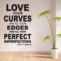 John Legend All Of Me Wall Sticker Quote