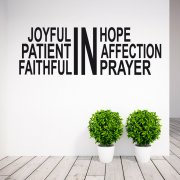 Joyful Wall Sticker Quote