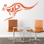 Kangaroo Tribal Wall Sticker