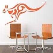 Kangaroo Tribal Wall Sticker