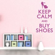 Keep Calm And Buy Shoes Wall Sticker