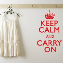 Keep Calm And Carry On Wall Sticker