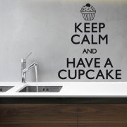 Keep Calm Cupcake Wall Sticker