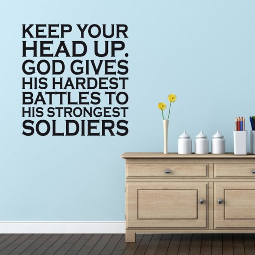 Keep Your Head Up Wall Sticker Quote