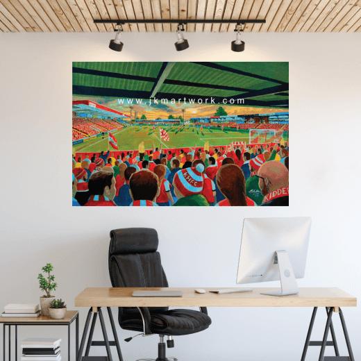 Kidderminster Harriers, Aggborough Stadium Football Ground Wall Sticker