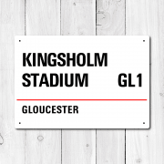 Kingsholm, Gloucester Metal Sign