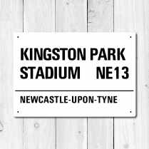 Kingston Park Stadium, Newcastle-upon-Tyne Metal Sign