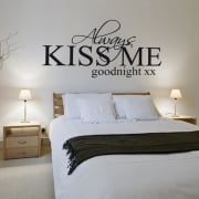 Kiss Me Goodnight Wall Sticker Quote