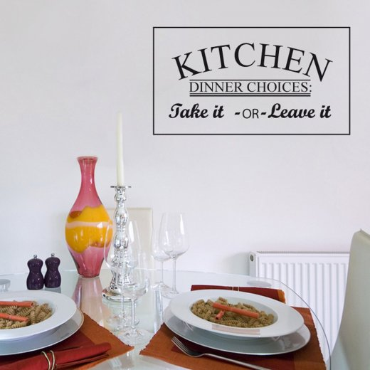Kitchen Dinner Choices Wall Sticker