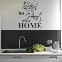 Kitchen Heart Home Wall Sticker Quote