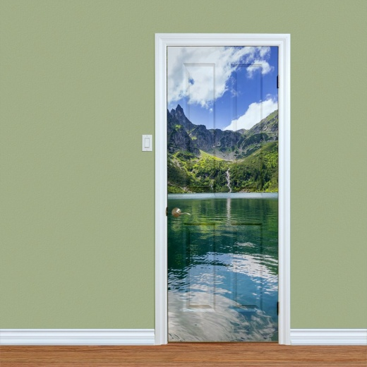 Lake & Mountains Printed Door