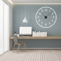 Large School Wall Sticker Clock