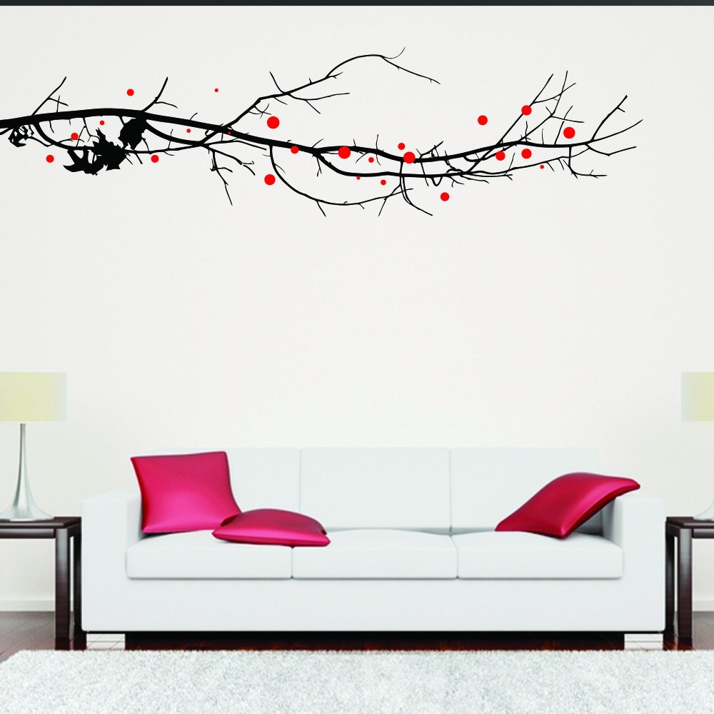 large tree branch with leaves wall sticker wall chimp uk large tree wall decal wallboss wall stickers wall art