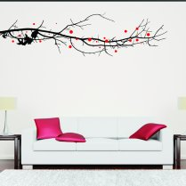 Large Tree Branch With Leaves Wall Sticker