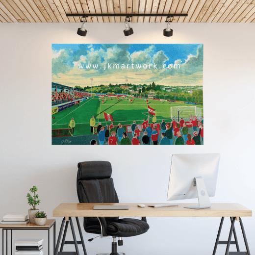 Larne, Inver Park Football Ground Wall Sticker