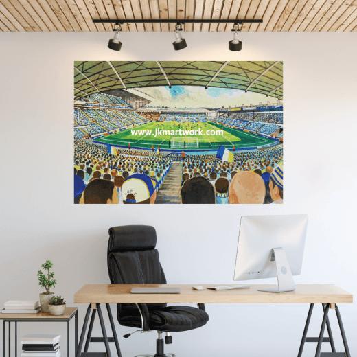 Leeds United, Elland Road Football Ground Wall Sticker