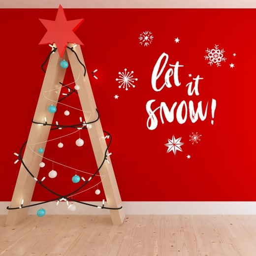 Let It Snow Wall & Window Sticker