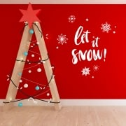 Let It Snow Wall & Window Sticker