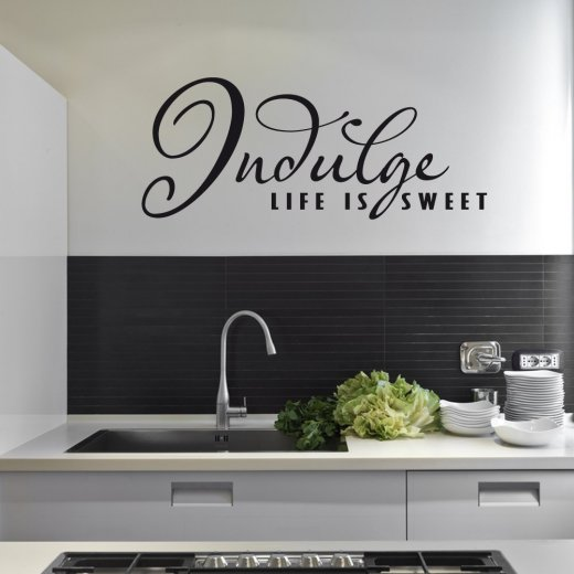 Life Is Sweet Food Wall Sticker Quote