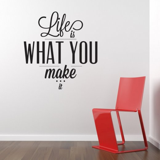 Life Is What You Make It Wall Sticker Quote