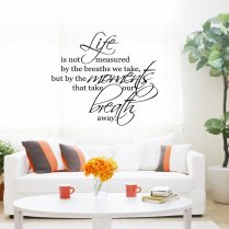 Life Measured Wall Sticker Quote