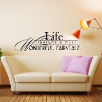 Life 's Fairytale Wall Sticker Quote