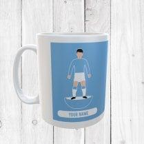 Light Blue Football Mug