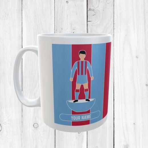 Light Blue & Red Football Mug
