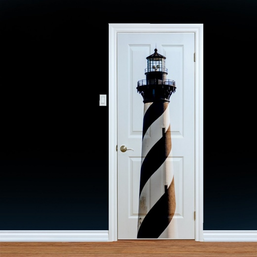 Lighthouse Printed Door Art Design