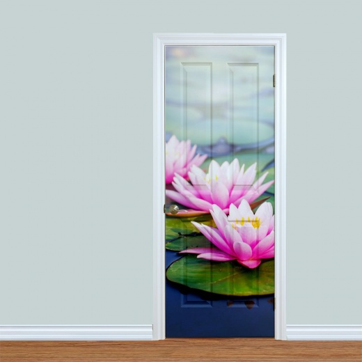 Lilly Pad Flowers Printed Door