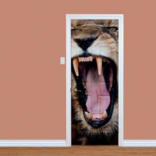 Lion Raw UV Printed Door