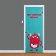 Little Monsters Custom Printed Name Door