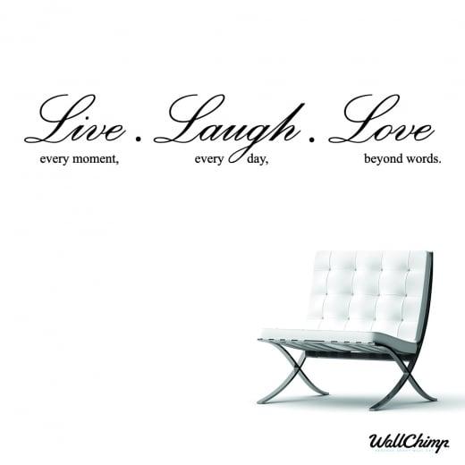 Live, Laugh, Love Wall Sticker Quote